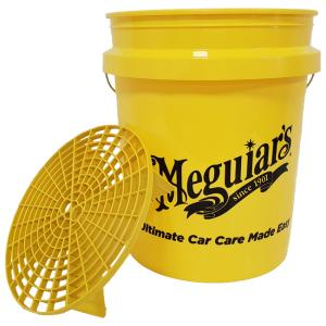 Meguiar's Professional Wash Bucket with Grit Guard  Yellow-Wiadro 18,9 L